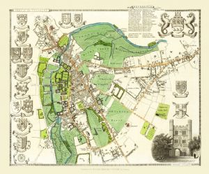 Map of Cambridge (City) 1836 by Thomas Moule 1000 Piece Jigsaw Puzzle (jg)